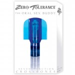 ZT Oral Sex Buddy Clear Blue Sleeve / 1 Clear Blue Bullet